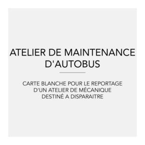 atelier de maintenance d'autobus