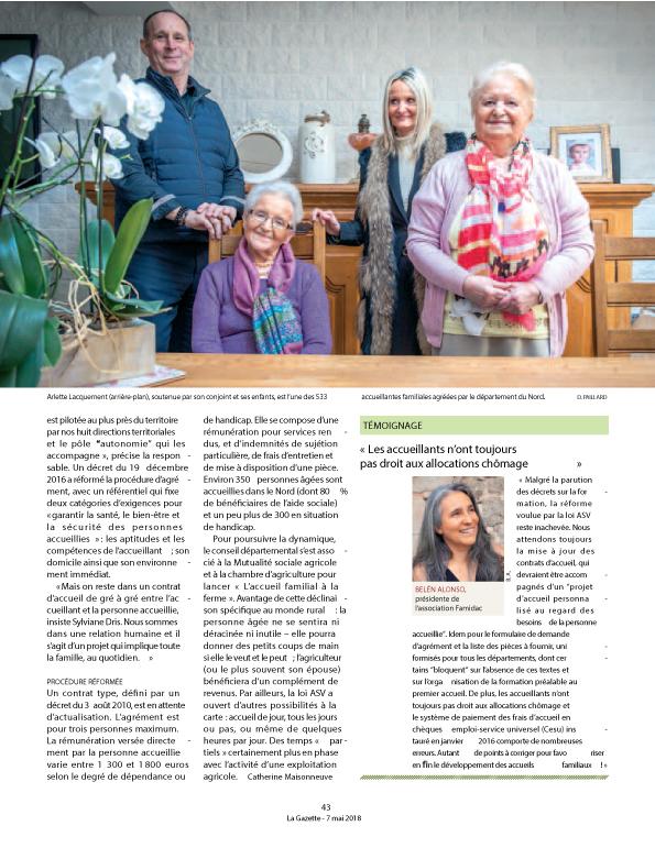 Mai 2018: Parution la Gazette des communes.